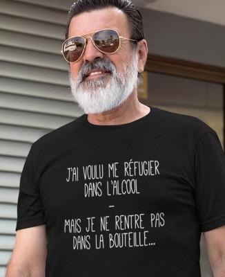 T-shirt Homme Réfugier dans l'Alcool