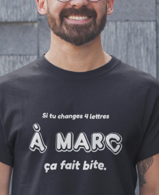 T-shirt Homme Changer 4 Lettres à Marc
