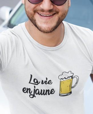 T-shirt Homme La vie en jaune (bière)
