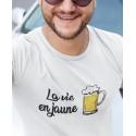 T-shirt La vie en jaune (bière)