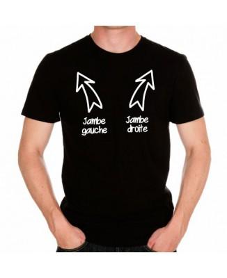 T-shirt Jambe gauche et Jambe droite