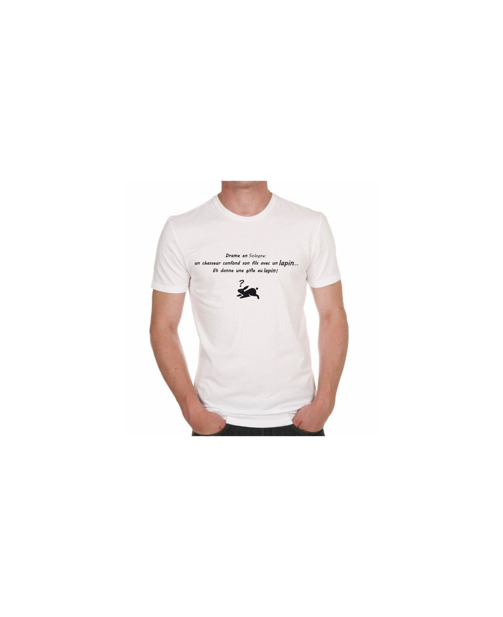 tee shirt humour drame en un chasseur confond son fils. Black Bedroom Furniture Sets. Home Design Ideas