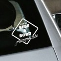 Sticker humour Pas de Bébé à Bord Ménopausée