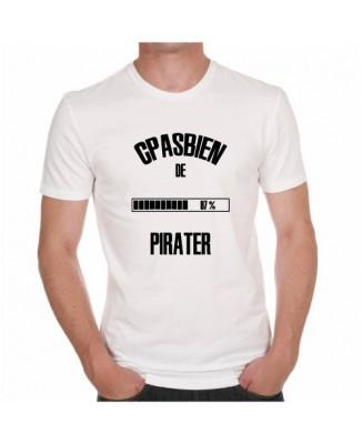 """T-shirt """"C'est pas bien de pirater"""""""