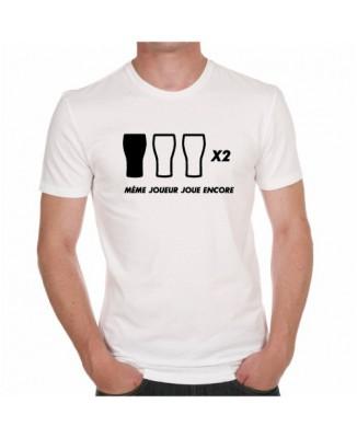 """T-shirt """"Même joueur joue encore"""""""