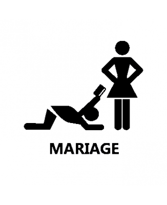 Tee shirt mariage