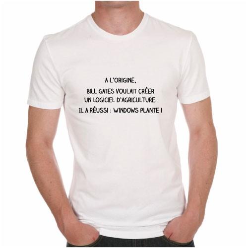 tee shirt humour a l 39 origine bill gates voulait cr er un logiciel d 39 agriculture il a r ussi. Black Bedroom Furniture Sets. Home Design Ideas