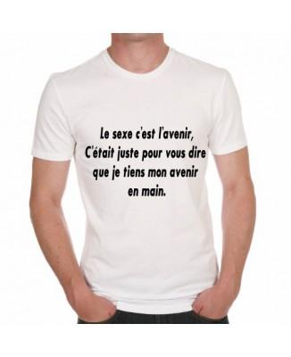 T-shirt humoristique Le sexe c'est l'avenir..
