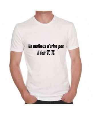 T-shirt humoristique Un matheux n'urine pas