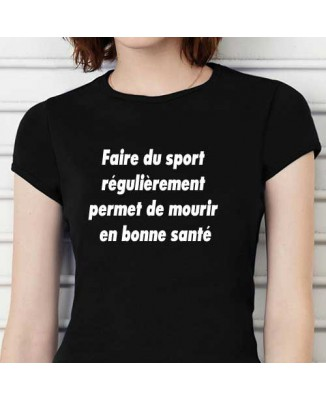 T-shirt Faire du sport