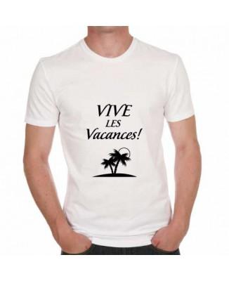 T-shirt humoristique Vive les vacances!