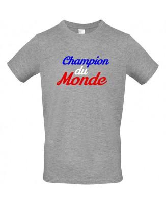 Tee-shirt Gris France Champion du Monde