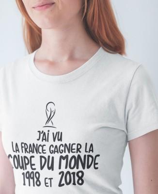 Tee-shirt Femme France Coupe du Monde 1998 et 2018