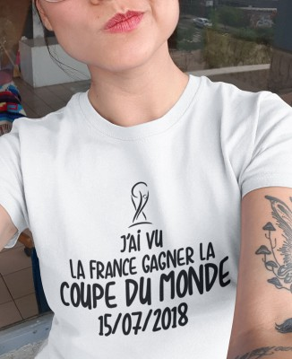 Tee-shirt France Coupe du Monde 2018