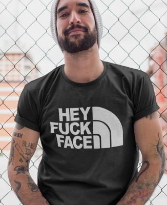 Tee-shirt Homme Hey Fuck Face