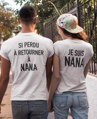 Tee shirts pour Couples - Si perdu à retourner à Nana