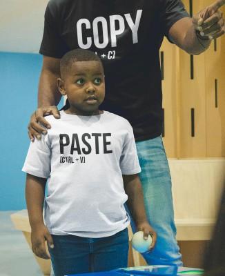 Tee-shirt enfant PASTE [CTRL + V] [Parent / Enfant]