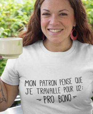 Tee shirt Femme Je travaille Pro Bono
