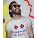 T-shirt Humour France Champignons du Monde