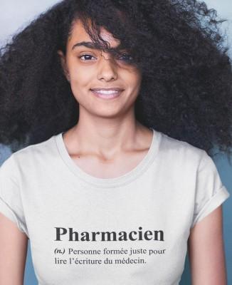 Tee shirt Humour Définition Pharmacien
