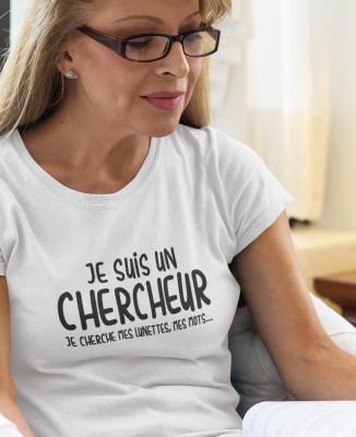 Tee-shirt Femme Je suis un Chercheur