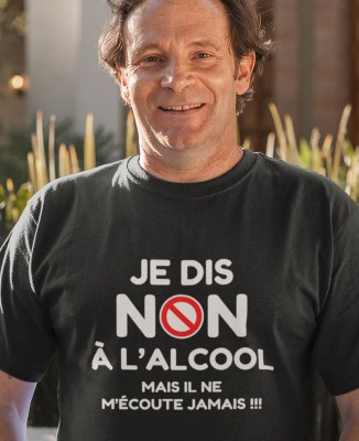 Tee-shirt Homme NON à l'Alcool