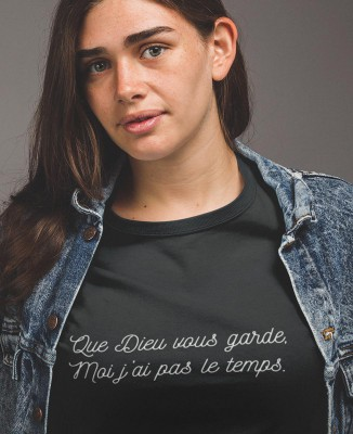 Tee-shirt Femme Que Dieu Vous Garde