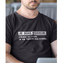 Tee-shirt Geek Codeur Pas Réparateur d'Ordi