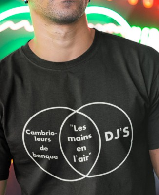 T-shirt Homme Cambrioleurs de banque vs Dj's