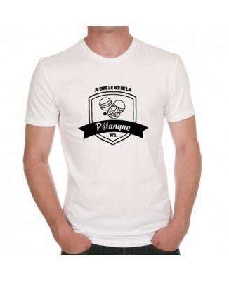 T-shirt Je suis le roi de la Pétanque