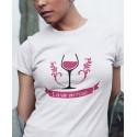 T-shirt Je bois la vie en rosé