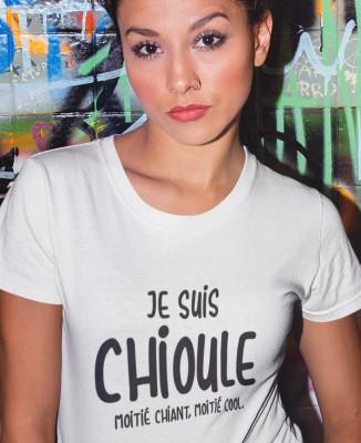 T-shirt Femme Chioule, moitié chiant, moitié cool...