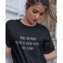 T-shirt Dans un monde de Kardashians sois Diana