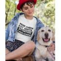 T-shirt Mon chien est gentil - Attention à ma homme