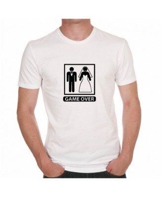 T-shirt mariage Game Over