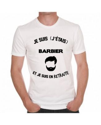 T-shirt Je suis barbier et je suis en retraite