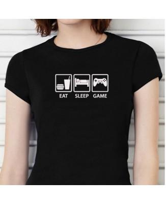 "T-shirt ""Geak, eat, sleep, game"""
