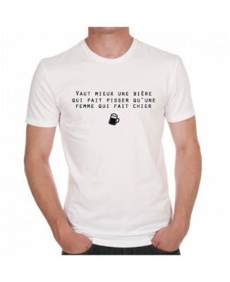 """T-shirt """"Vaut mieux une bière ..."""""""