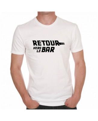 """T-shirt"""" Retour vers le bar"""" parodie Retour vers le Futur"""