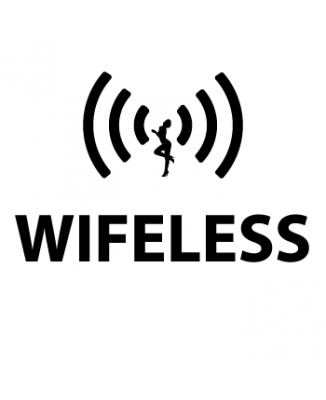 Tee shirt Wifeless parodie Wireless