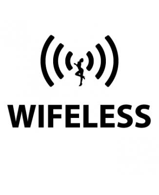Tee shirt Wifeless parodie Wireless
